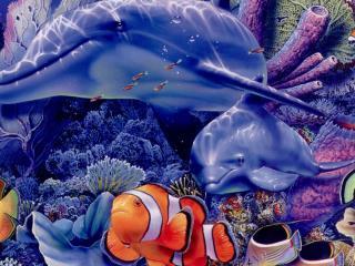 обои Разноцветная морская жизнь фото
