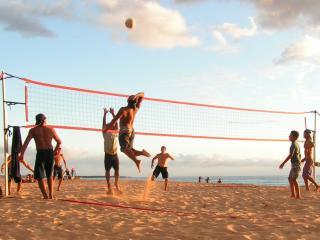 обои Пляжный волейбол среди мужчин фото