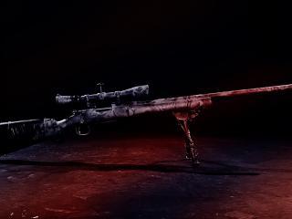 обои Снайперская винтовка времен войны фото