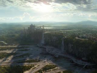 обои Виртуальный город фото