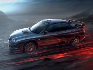 обои Автомобиль,   обгоняющий огонь фото