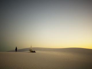 обои Человек среди песков фото