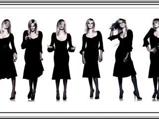 обои Фото-сессия в черном платье фото