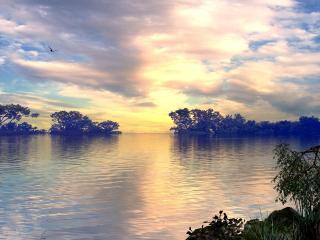 обои Нежная река фото