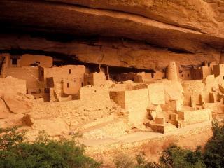 обои Руины древнего города в пещере фото