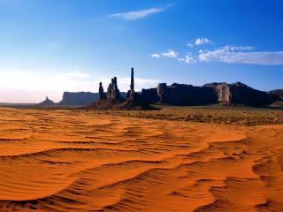обои Пустыня,   пески и горы фото