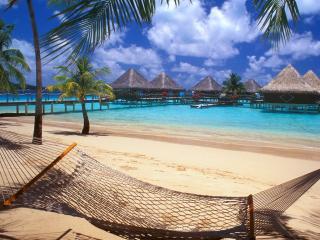 обои Солнце,   пляж,   гамак фото