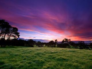 обои Красивый пейзаж заката фото