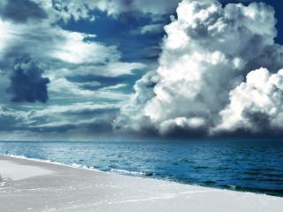 обои Рисованный пляж фото