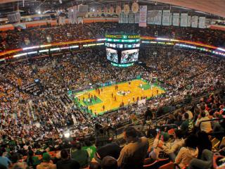 обои Вид баскетбольной арены с трибуны фото