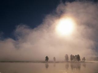 обои Туман над рекой фото