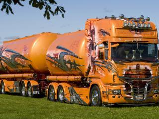 обои Тюнингованная Scania цистерна фото