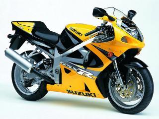 обои Желтый тюнингованный мотоцикл Сузуки фото