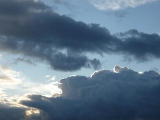 обои Солнце за облаками фото