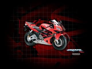 обои Красный мотоцикл Хонда фото