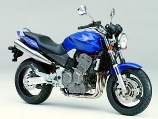 обои Классический синий мотоцикл Хонда фото