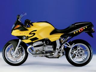 обои Желтый мотоцикл БМВ R1100 фото
