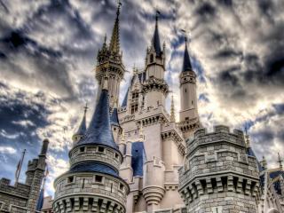 обои Замок башни небо, фото