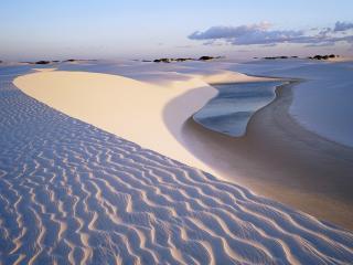 обои Песок и вода в пустыне фото