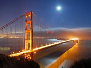обои Мост Золотые ворота (Сан-Франциско) фото