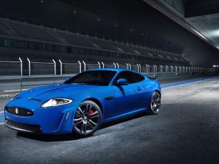 обои Синий Jaguar xkr фото