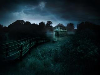 обои Дом призрак фото