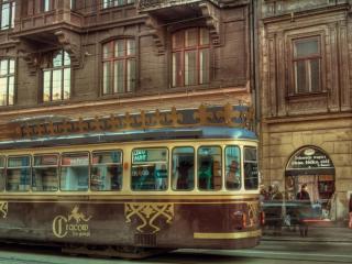 обои Старый трамвай фото