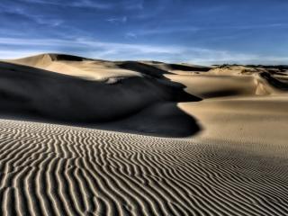 обои Пустынные барханы песков фото