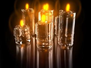 обои Прозрачные свечи фото