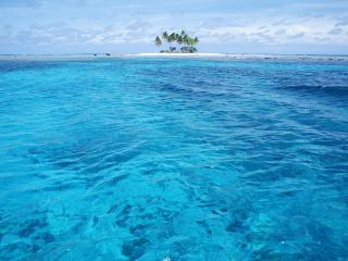 обои Островок в прозрачном море фото
