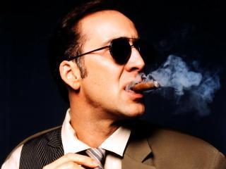 обои Николас Кейдж с сигарой фото