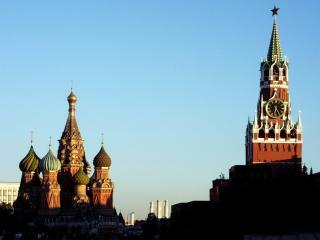 обои Вид на Кремль на закате фото