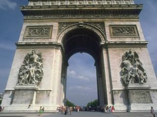 обои Триумфальная арка в Париже фото