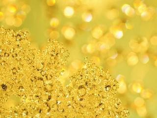обои Камушки на золотом фоне фото