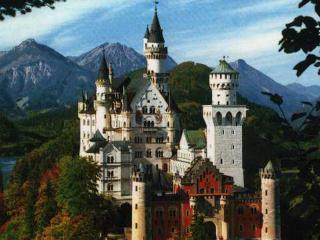 обои Высокий замок на горе фото
