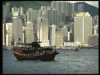 обои Урбанизированное побережье Гонконга фото