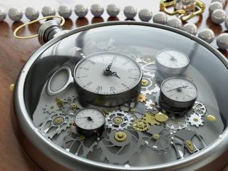 обои Часы шестеренки,   стрелки фото