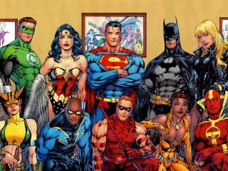 обои Герои комиксов Batman,   superman,   green lantern и другие фото