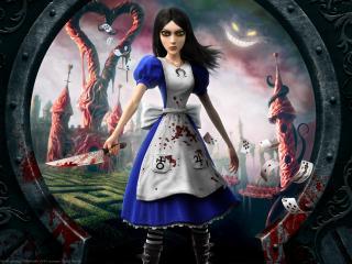 обои Кровавая Алиса в стране чудес фото