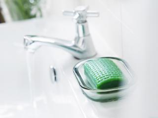 обои Зеленое мыло в мыльнице фото
