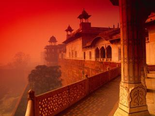 обои Форт Агры в Индии фото