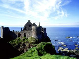 обои Замок Данлус в графстве Антрим фото