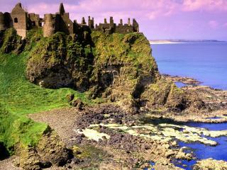 обои Замок Данлус в Ирландии фото