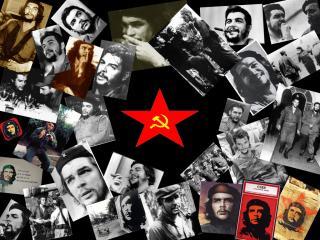 обои Открытки Че Гевара и символ труда фото