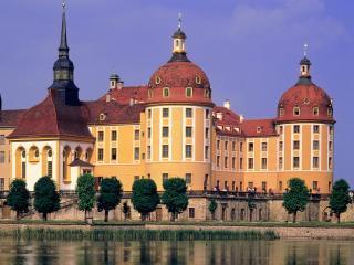обои Замок Морицбург в Германии фото