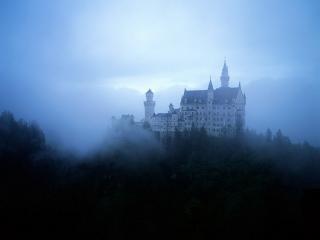 обои Туман над замком Нойшванштайн фото