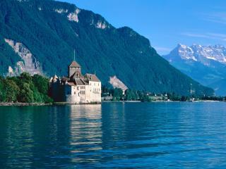 обои Шильонский замок,   Женевское озеро,   Швейцария фото