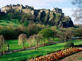 обои Эдинбургский замок в Шотландии фото