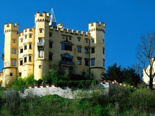 обои Замок Хоэншвангау крупным планом фото