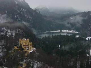 обои Замок Хоэншвангау в начале зимы фото